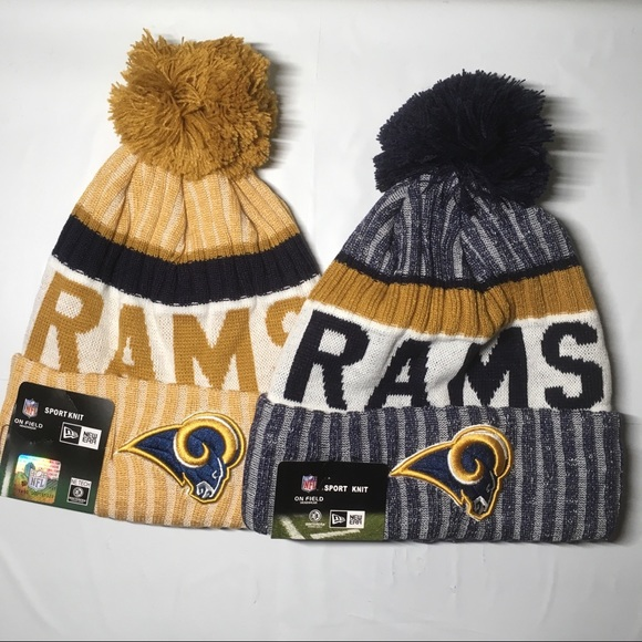 2 Los Angeles Rams beanie hats 76c1e5b0b71e